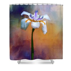 Shower Curtain featuring the photograph Shades Of Iris by Carolyn Marshall