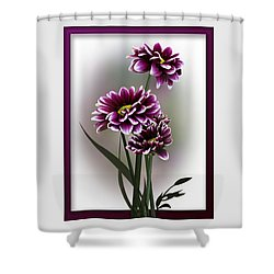 Shades Of Purple Shower Curtain by Judy Johnson