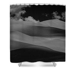 Shades Of Sand Shower Curtain by Brian Duram