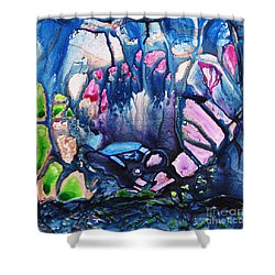 Shower Curtain featuring the painting Shades Of Tiffany by Joan Hartenstein