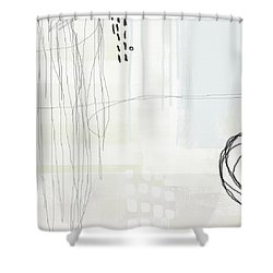 Shades Of White 1 - Art By Linda Woods Shower Curtain