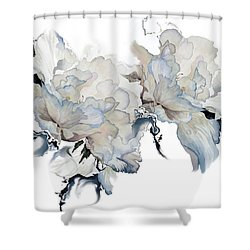 Shower Curtain featuring the painting Shades Of White Peony by Hanne Lore Koehler