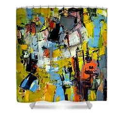 Shower Curtain featuring the painting Shades Of Yellow by Katie Black