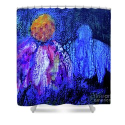 Shadow Abstract Bloom Shower Curtain