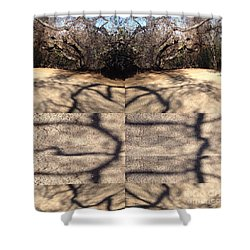Shadow Crack Lines Shower Curtain