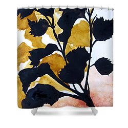 Shadow Hibiscus Shower Curtain by Lil Taylor