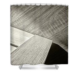 Shower Curtain featuring the photograph Shadow Light Door Abstract Two by John Williams