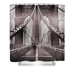 Shadow Man Shower Curtain by Az Jackson