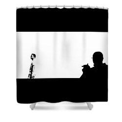 Shadow Man Shower Curtain