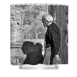 Shadow Of A Man Shower Curtain by Jim Walls PhotoArtist