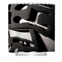 Shower Curtain featuring the photograph Shadow Of Foam Abstract Two by John Williams