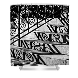 Shadow On The Rotunda Stairs Shower Curtain