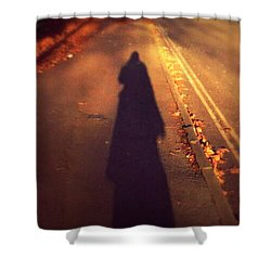Shower Curtain featuring the photograph Shadow by Persephone Artworks