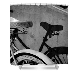 Shadow Ride In Black And White Shower Curtain