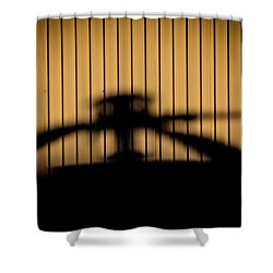 Shadow Rotor Shower Curtain by Paul Job
