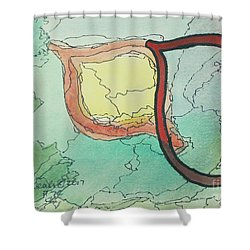Shadow Yud Shower Curtain