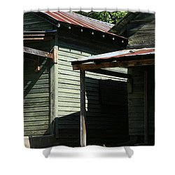 Shadowboxes Shower Curtain by Dennis Baswell