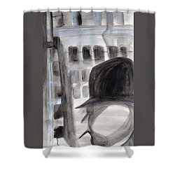 Shadowman Shower Curtain