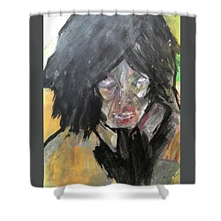 Shadows And Hearts Shower Curtain