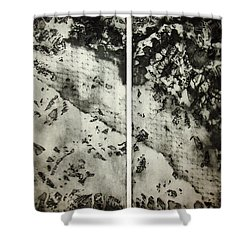 Shadows And Lace Shower Curtain by Nancy Mueller