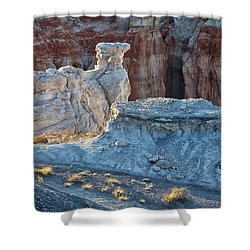 Shadows At Coal Mine Canyon Shower Curtain
