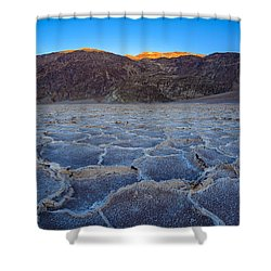 Shadows Fall Over Badwater Shower Curtain