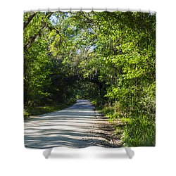 Shady Lane In Ocklawaha Shower Curtain