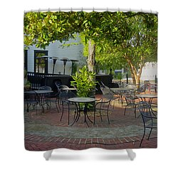 Shady Outdoor Dining Shower Curtain