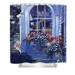 Shady Window Boxes Shower Curtain