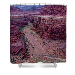 Shafer Canyon At Sunset - Moab - Utah Shower Curtain by Gary Whitton