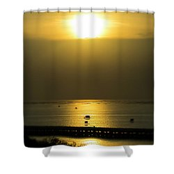 Shaft Of Gold Shower Curtain