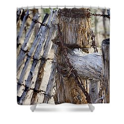 Shower Curtain featuring the photograph Shaggy Fence Post by Phyllis Denton