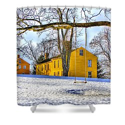 Shaker Swing In Winter 2 Shower Curtain