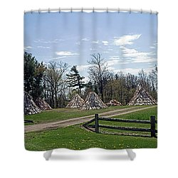 Shaker Teepees? Shower Curtain by Judy Johnson