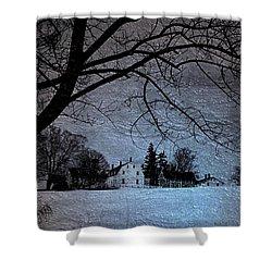 Shaker Winter Shower Curtain
