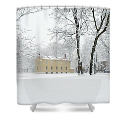 Shaker Winter Shower Curtain
