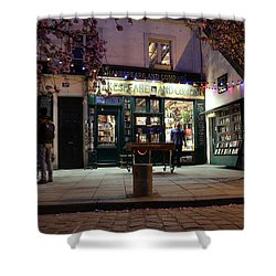 Shower Curtain featuring the photograph Shakespeare Book Shop 1 by Andrew Fare