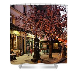 Shower Curtain featuring the photograph Shakespeare Book Shop 2 by Andrew Fare