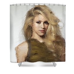 Shakira Shower Curtain by Iguanna Espinosa