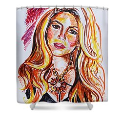 Shakira Shower Curtain by Viktoriya Lavtsevich