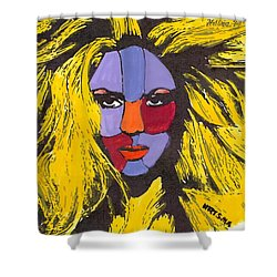 Shakira Shower Curtain by Zheni Mavromati