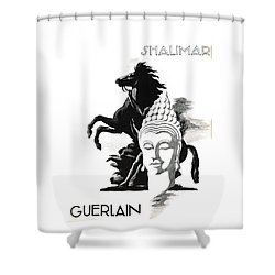 Shower Curtain featuring the digital art Shalimar by ReInVintaged