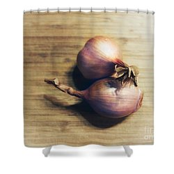 Shallots Shower Curtain