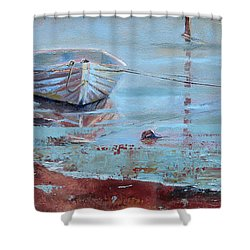 Shallow Tether Shower Curtain by Trina Teele