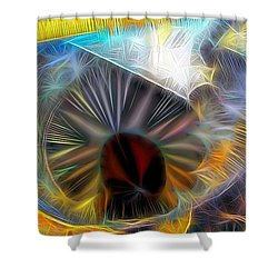Shower Curtain featuring the digital art Shallow Well by Ron Bissett