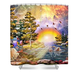 Shalom Shower Curtain by Dolores Develde
