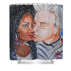 Shalonda  And  Rainer - All You Need Is Love Shower Curtain