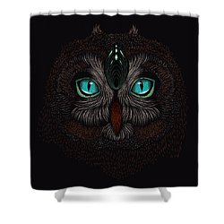 Shaman Spirit Owl Shower Curtain