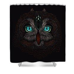 Shaman Spirit Owl Shower Curtain