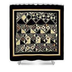 Shower Curtain featuring the digital art Shaman Tribal Kuba by Vagabond Folk Art - Virginia Vivier